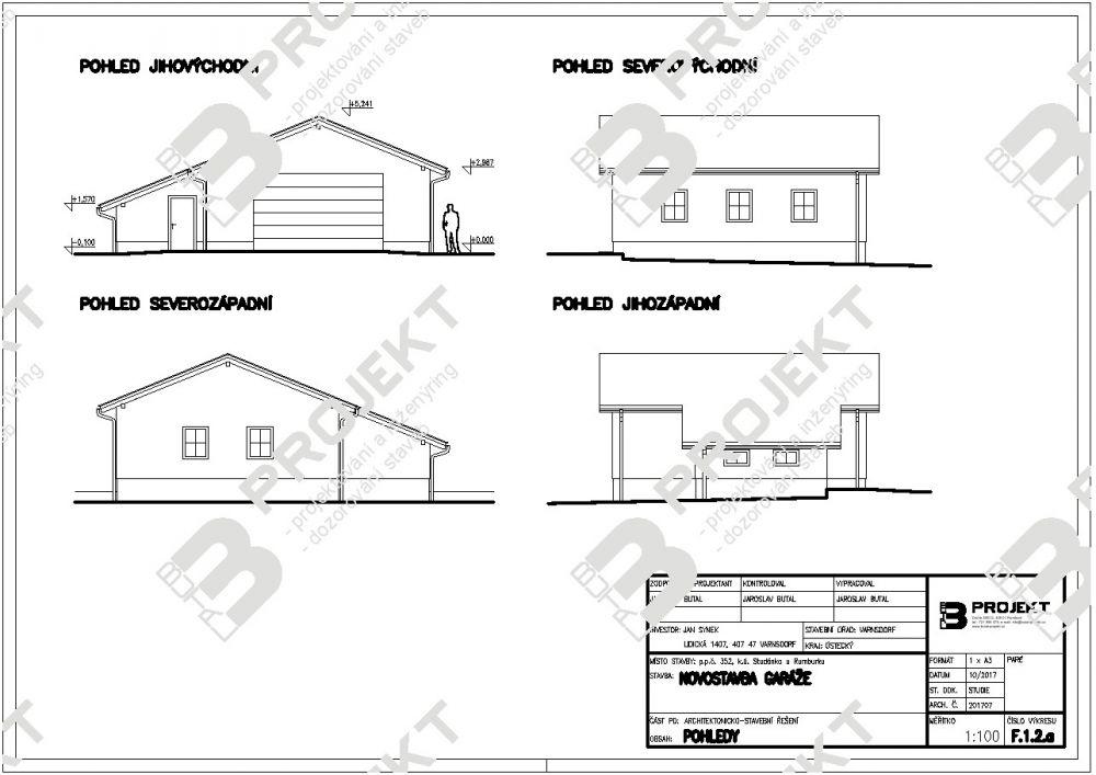 Stavební povolení na garáž 2017